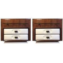 Melchiore Vega Pair of Jacaranda Wall-Mounted Nightstands, 1960