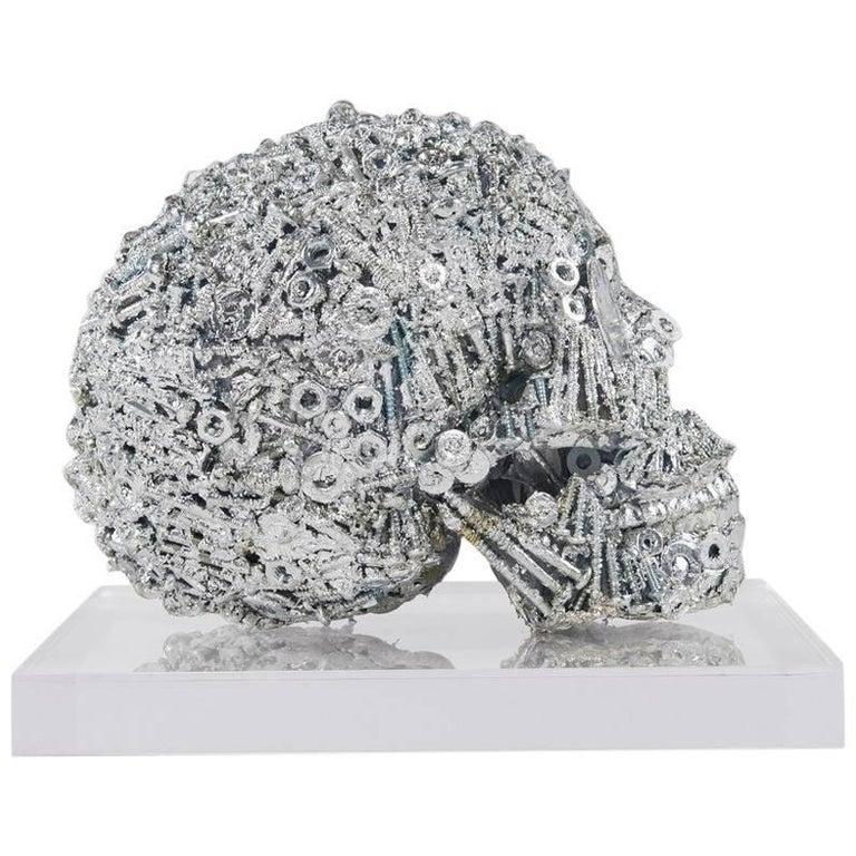 Henry Skull in Lucite Display Box