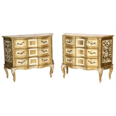 Pair of Italian Louis XV Style Commodes