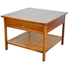 Rare Paul McCobb Delineator Walnut Two-Tier Side Table