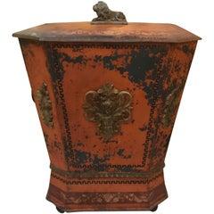 19th Century English Coal Scuttle Tinder Box