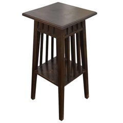Andrianna Shamaris Antique Teak Wood Side Table