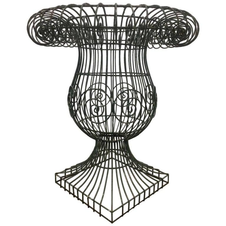 Wire Form Garden Urn