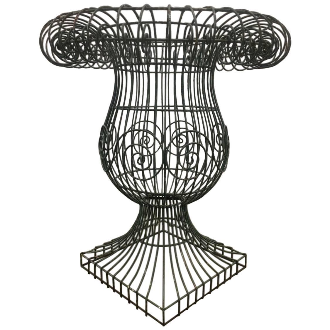 Wire Form Garden Urn For Sale