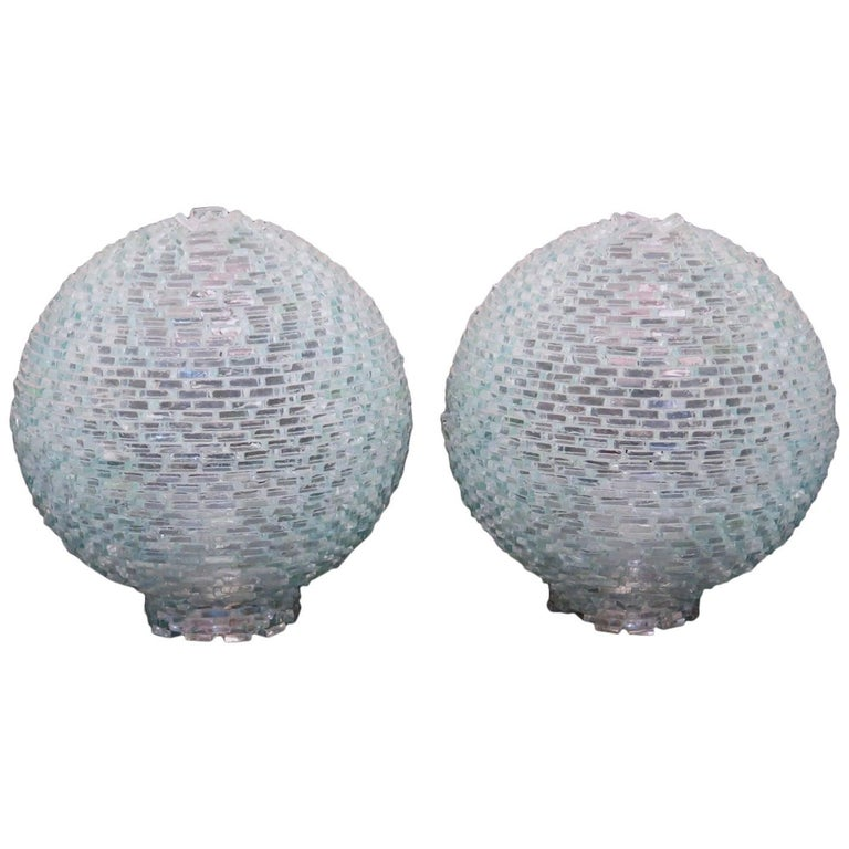 Pair of Table Lamps, Murano, 1970s