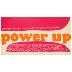Sister Mary Corita Serigraph Power Up Signed Pink Pop Art, USA, 1960s