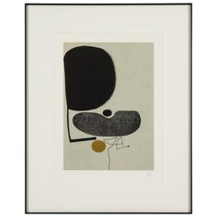Victor Pasmore Screenprint Abstract Points of Contact #22 Signed England, 1970s
