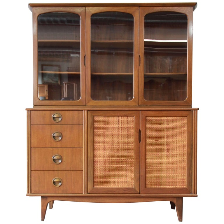 cabinet departments mid century modern woven front dining cabinet by landstrom 12789