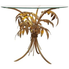Eye-Catching Hollywood Regency Gilt Palm Tree Coffee Table by Hans Kögl
