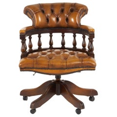 English Leather Office Chair