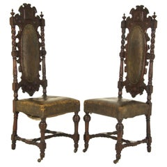 Antique Hall Chairs Renaissance Revival, Scotland, 1880