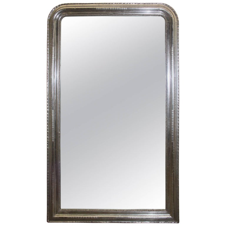 Louis-Philippe French Silver Mirror