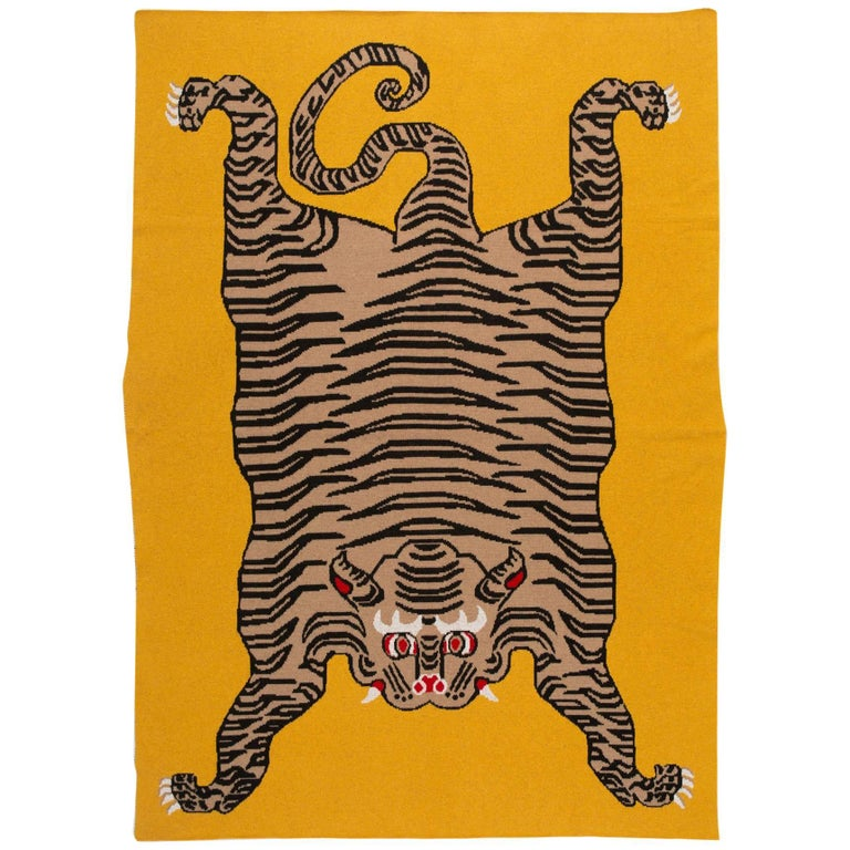 Tiger Blanket By Saved, New York For Sale At 1stdibs
