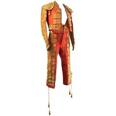 Fine Gold and Silk Complete Spanish Matador Bullfighting Costume, circa 1940