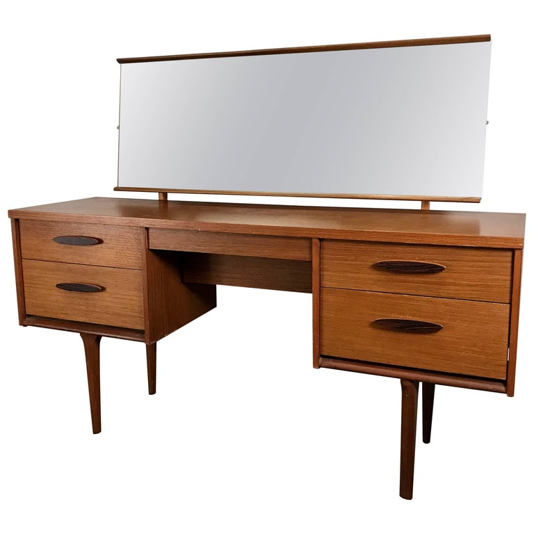Unusual Modernist Vanity/Desk Made in Denmark For Sale