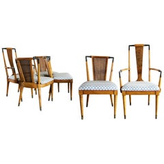 Mid Century Modern Dining Chairs Bert England Forward Trend for Johnson Set of 6