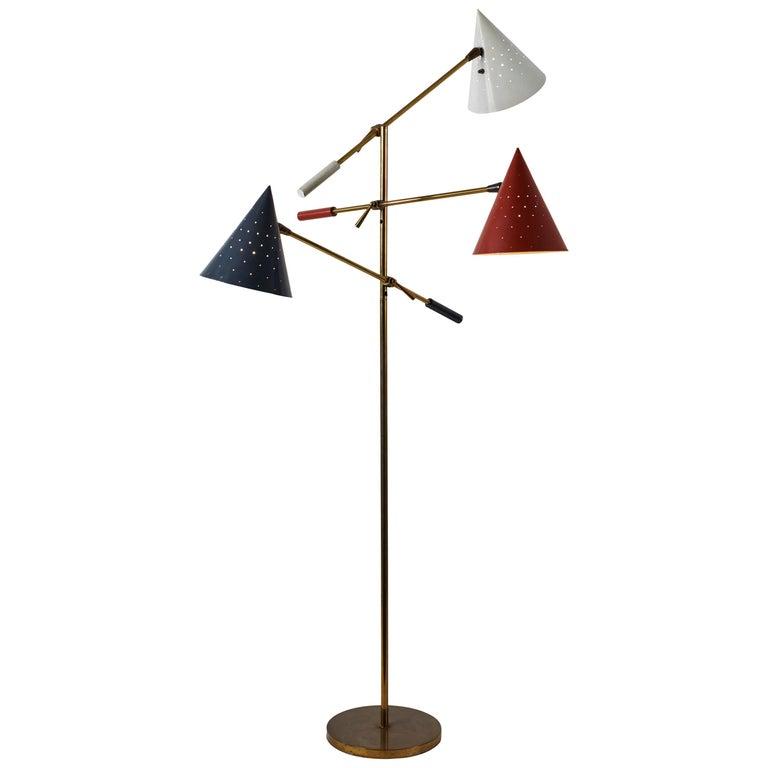 Rare Triennale Floor Lamp by Lightolier