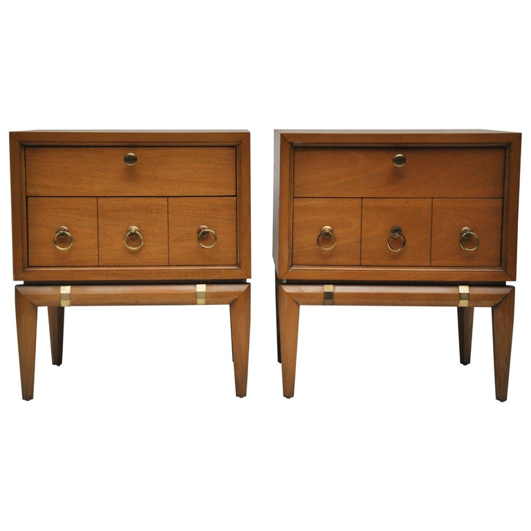 Mid-Century Modern Pair of Kent Coffey Nightstands