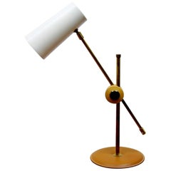 1960s Chrome and Leather Anders Pehrsson Table Lamp from Atelje Lyktan