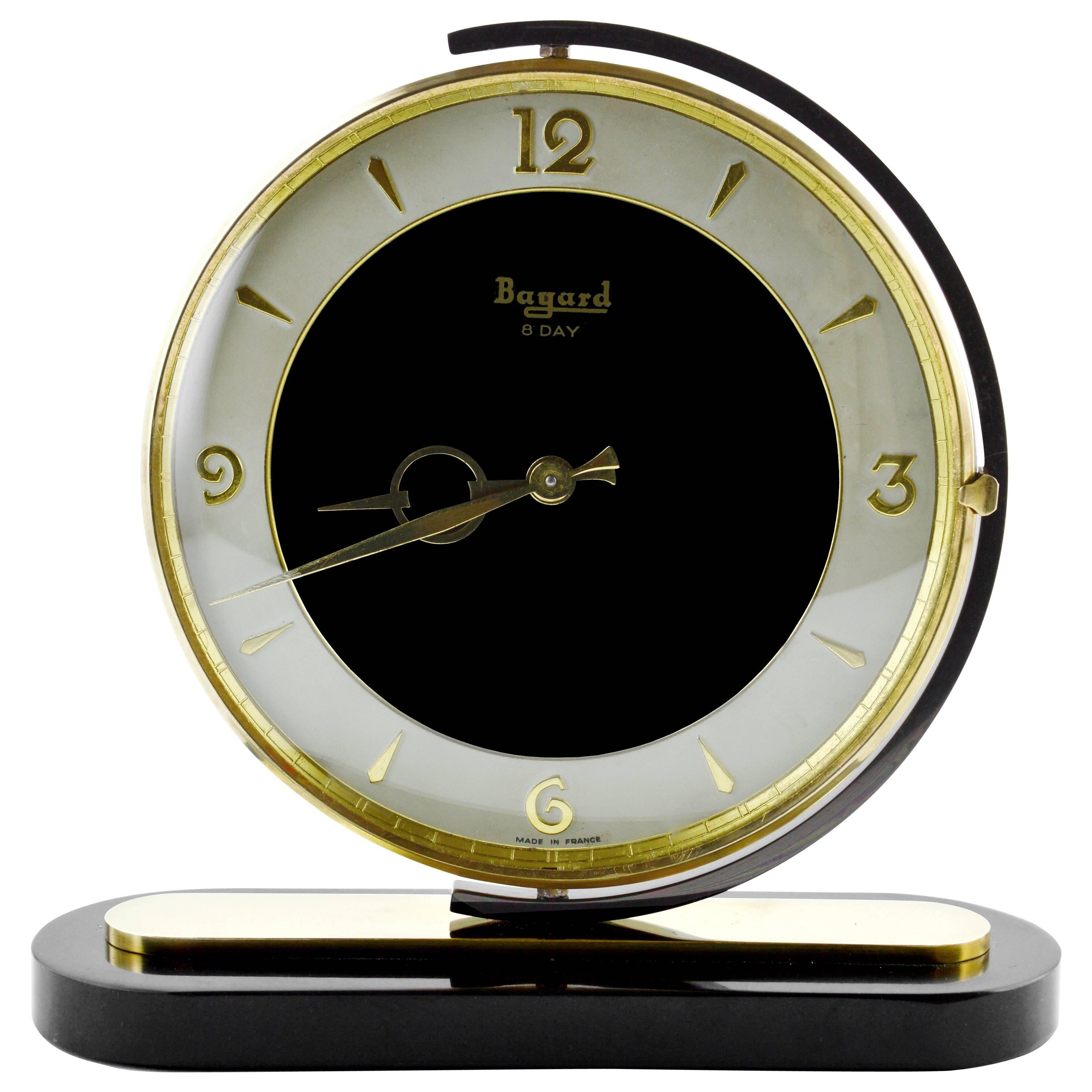 french art deco swivelling clock by bayard 1930s