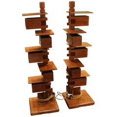 Fantastic Pair of Frank Lloyd Wright Table Lamps