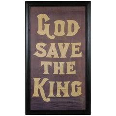 """God Save The King"",1937 Coronation Banner"