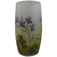 Art Nouveau Daum Glass Vase