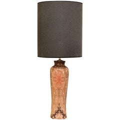 Table Lamp, Polychromatic Porcelain, Red Yellow and Gray Tones, Etro, Italy