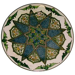 Royal Doulton, an Art Deco Plate with Yellow Star Decoration, circa 1920s-1930s