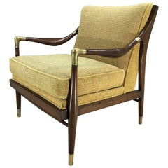 Gio Ponti Style Sculptural Walnut Open Armchair by Jamestown Royal, 1950s