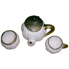 Christopher Dresser Attr Three-Piece Tea Set Made by Coalport for Hukin & Heath