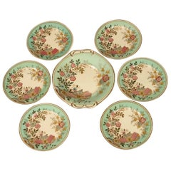 Christopher Dresser Old Hall Hamden Pattern Cake Set with Six Matching Plates