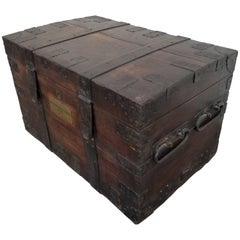 19th Century Iron Bound Cargo Trunk