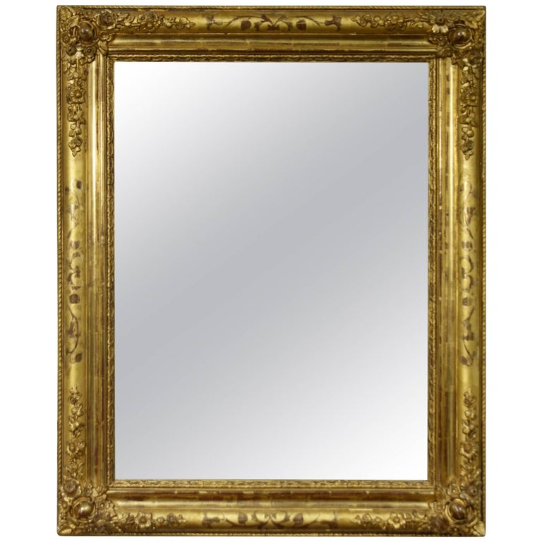 French Charles X Period Giltwood Mirror For Sale
