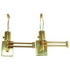 Hinson Swing Arm Wall Sconces by Metalarte in Polished Brass