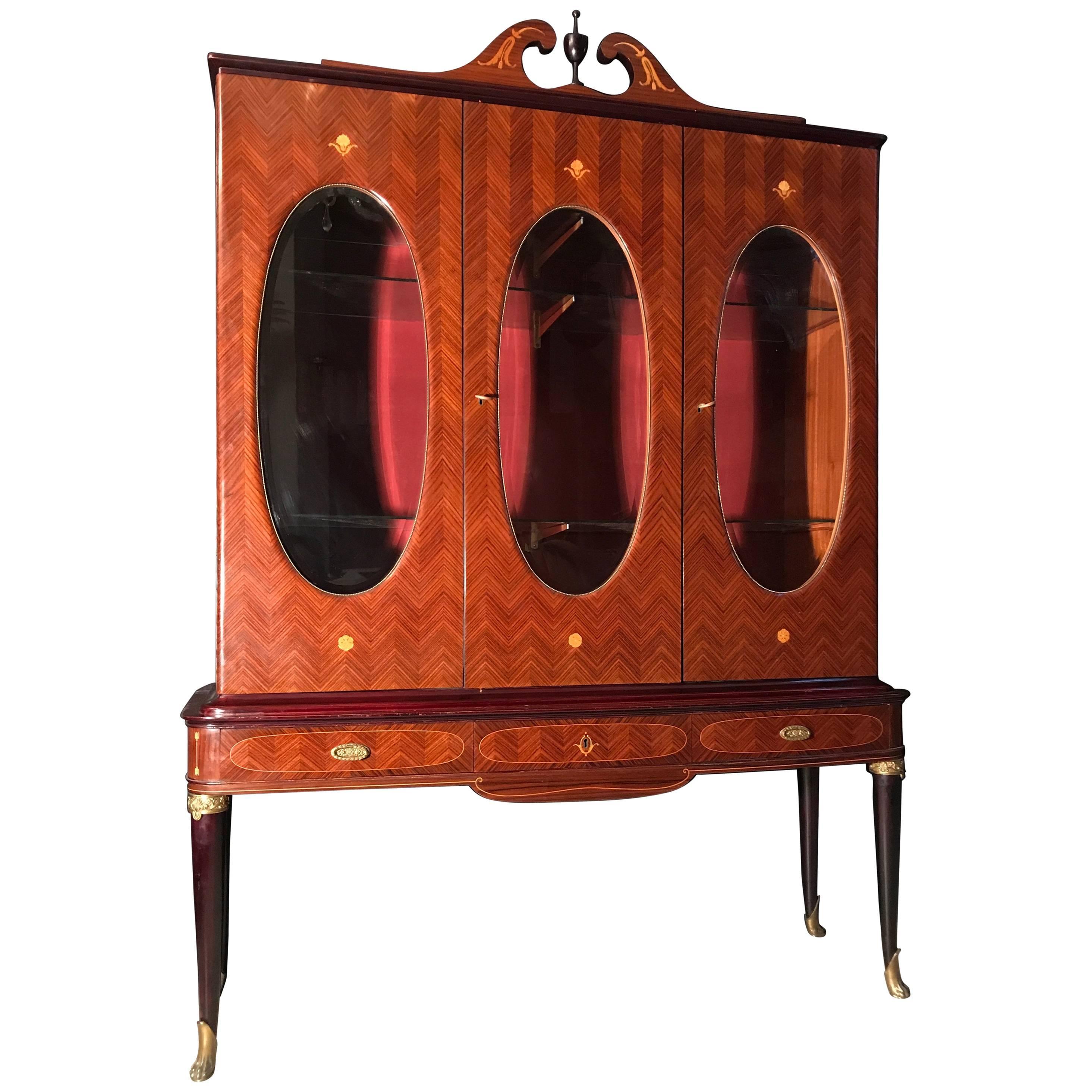Italian Design Midcentury Cabinet Vitrine Attributed to Paolo Buffa