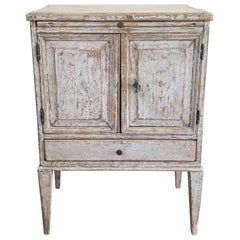 18th Century Swedish Gustavian Period Petite Bedside Table or Nightstand