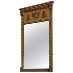 Mid-19th Century Antique and Gilt Empire/Napoleonic Style Mirror