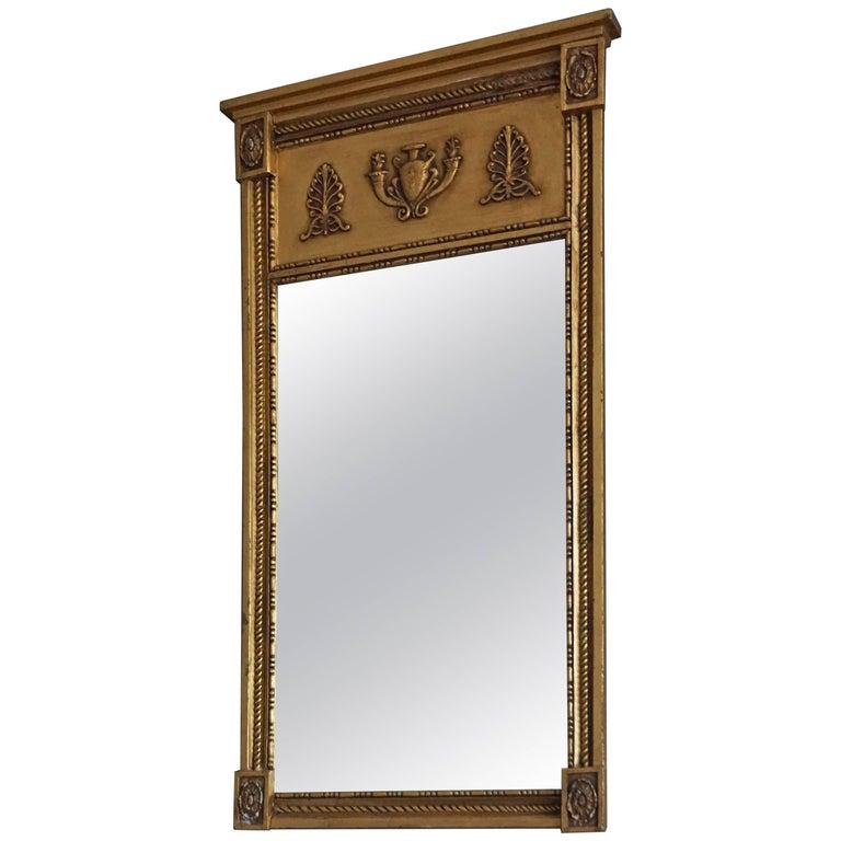 Mid-19th Century Antique and Gilt Empire/Napoleonic Style Mirror