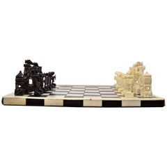 1930 Belgian Congo Ivory Chess Set