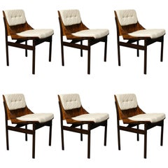 Six Brazilian Jacaranda Dining Room Chairs Attributed to Jorge Zalszupin