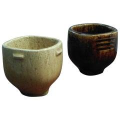 1970s Per Linnemann-Schmidt Pair of Miniature Stoneware Bowls from Palshus