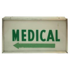 Vintage Medical Light Two-Sided