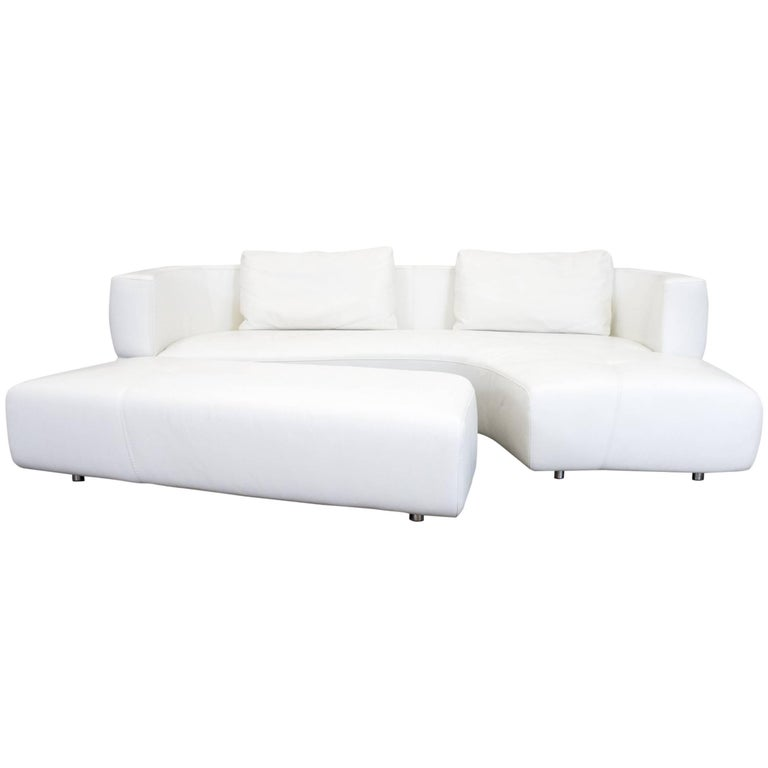 la nuova casa leather corner sofa white cr me couch who 39 s perfect at 1stdibs. Black Bedroom Furniture Sets. Home Design Ideas