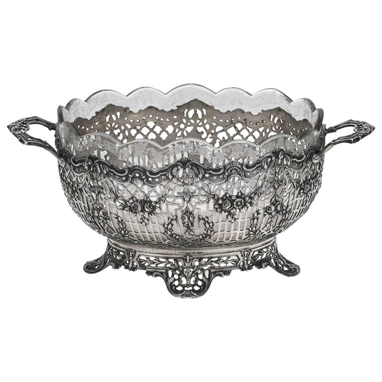 Sterling Silver with Crystal Bowl Dish