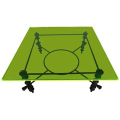 Giacometti Style Jupiter Green Acrylic Coffee Table