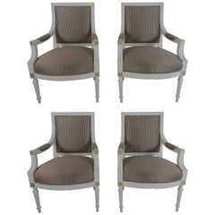 19th Century Set of Four Gustavian Armchairs