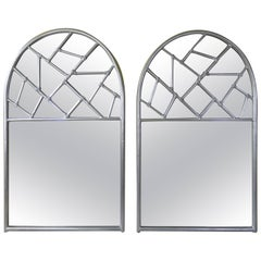 Pair of Cracked Ice Mirrors
