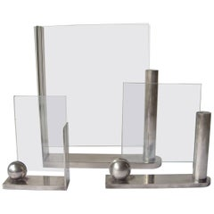 Richard Meier, Three Silver Plate Picture Frames for Swid Powell, Stamped