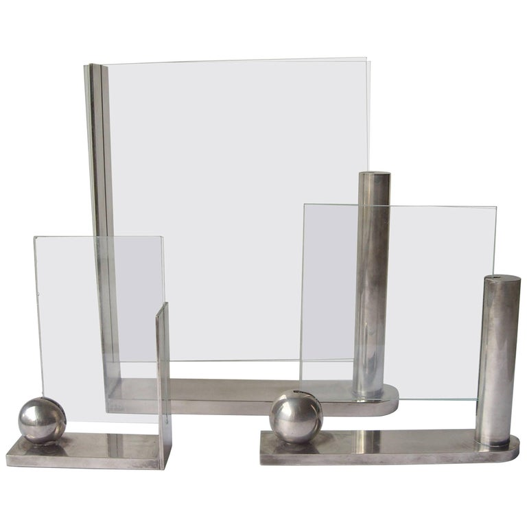 Richard Meier, Three Silver Plate Picture Frames for Swid Powell, Stamped 1